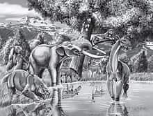 Palaeolamaর কাল্পনিক চিত্র