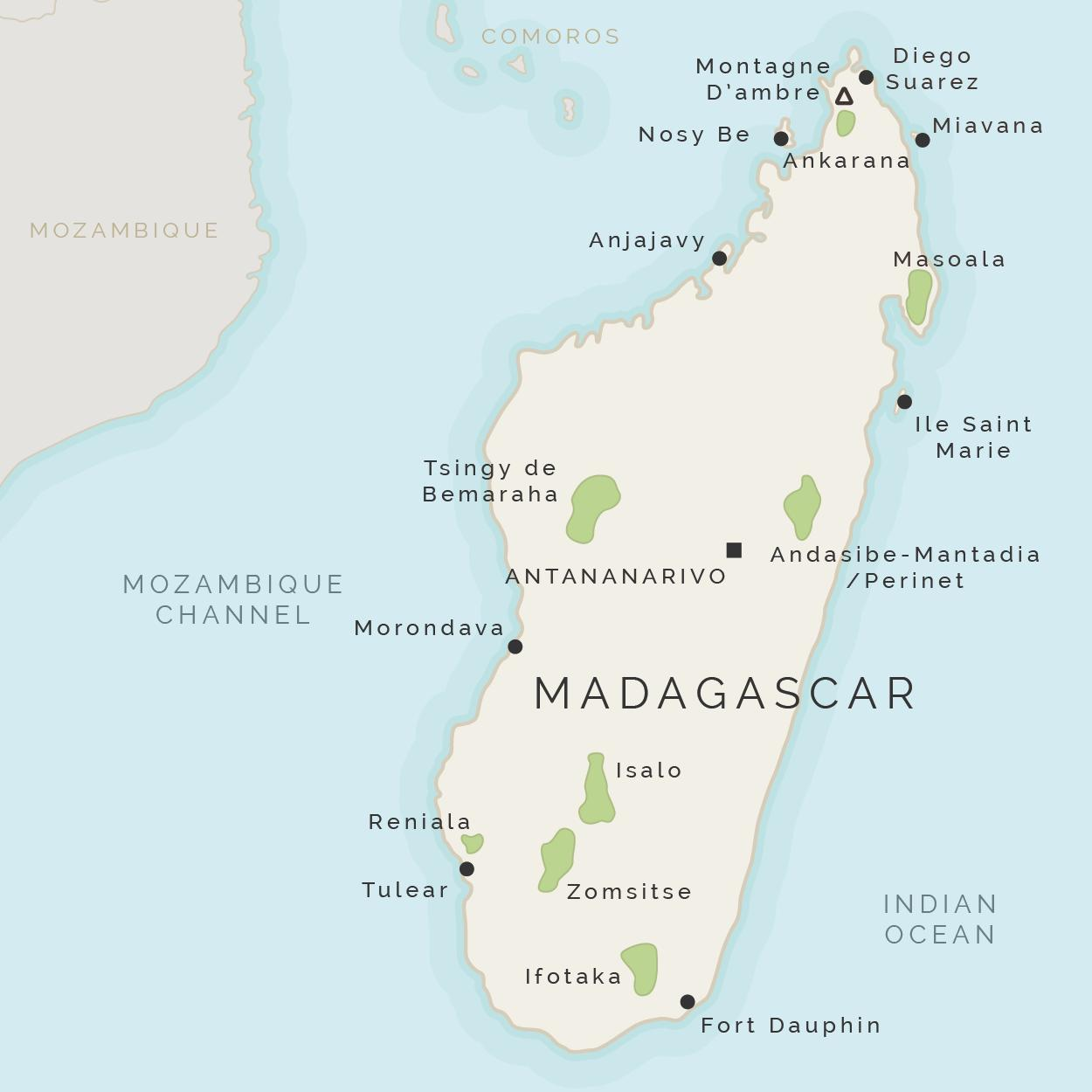 মাদাগাস্কার-দ্বীপ-মানচিত্র
